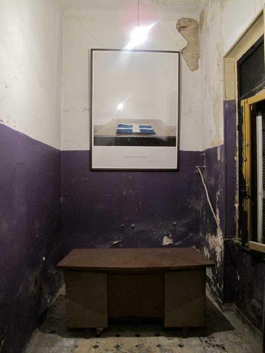 Installation view Alle Wege sind verschlossen, 2010, lambda c print mounted on frame, 170x125cm Kunsthalle Athena, 2010