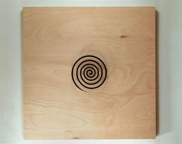 Untitled,1993, plywood, plexiglas, silkscreen, motor, 135X135cm