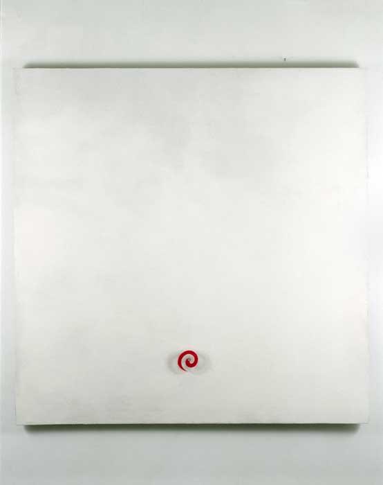 The Immense, 1993, marble powder, plexiglas, silscreen, motor, 135x135cm