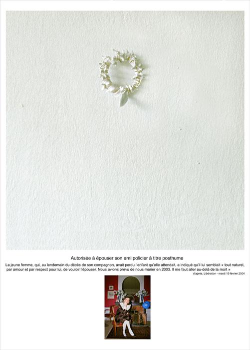 Autorisée à épouser, 2006, color lambda print, mounted on aluminium 170x125cm