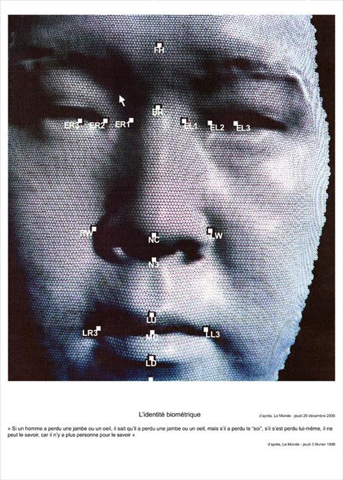 L'identité biométrique, 2006, color lambda print, mounted on aluminium 170x125cm